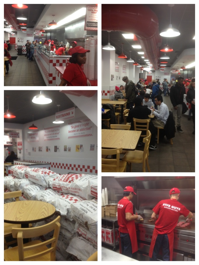 Five Guys Burgers and Fries interior